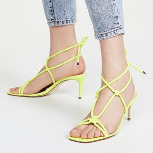 Schutz Belize Neon Yellow Sandals New $190